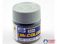 C334 Gunze Sangyo (Mr. Color) Краска уретановый акрил Mr. Color 10мл BARLYE GRAY BS4800/18B21
