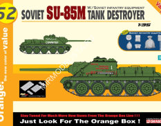 9152  САУ Soviet SU-85M Tank Destroyer  (1:35) Dragon
