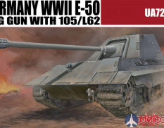 UA72053 Modelcollect 1/72 Germany WWII E-50 SPG GUN with 105/L62