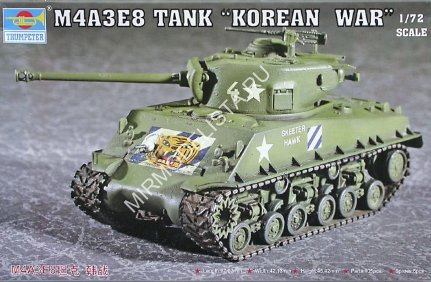 07229 Trumpeter 1/72 Танк M4A3E8