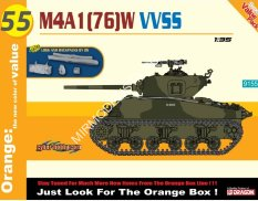 9155  танк M4A1(76)W VVSS + Logs And Backpacks (1:35) Dragon