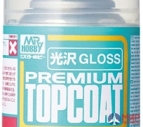 B-601 ЛАК т.м.MR.HOBBY  MR.PREMIUM TOPCOAT GLOSS 88мл