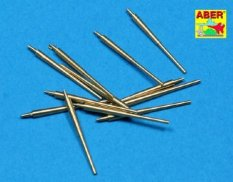 350L12 ABER 1/350  Set  of 12 pcs 150 mm barrels for  German ships : Bismarck, Tirpitz, мет.ствол