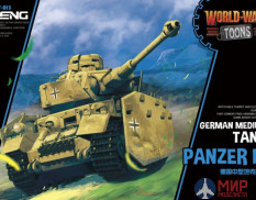 WWT013 Meng Model Panzer IV German Medium Tank - World War Toons