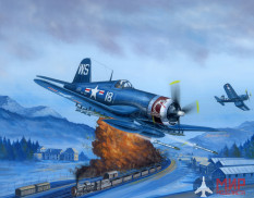 80387 Hobby Boss самолёт  F4U-4 Corsair Late version  (1:48)