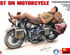 35176 MiniArt мотоцикл REST ON MOTORCYCLE (1:35)