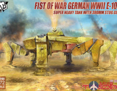UA72151 Modelcollect Fist of War German WWII E-100 Super Heavy Tank with 380mm