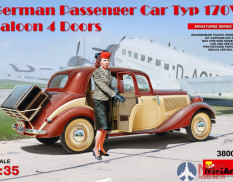 38008 MiniArt автомобиль  GERMAN PASSENGER CAR TYP 170V SALOON 4 DOORS  (1:35)