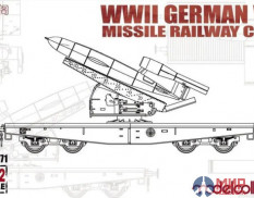 UA72171 Modelcollect  WWII Germany V1 Missile Railway Car