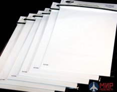 AH0015 Hobby Aurora white Polystyrene sheet of 0.3 mm 20x30cm (3листа)