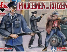RB72037 Red Box 1/72 Policemen and Citizens