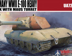 UA72068 Modelcollect танк  Germany WWII E-100 Heavy Tank with Maus turret   (1:72)