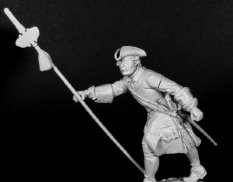 CHM-54106(M) of the Chronos Miniatures 54 mm Officer of the army infantry regiments, Russia 1710-20.