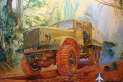 ROD804 Roden 1/35 Советский грузовик KrAZ-214B soviet military off-road truck