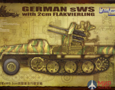 L3525 Great Wall Hobby German SWS with 2cm Flakvierling 1/35