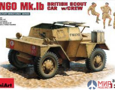 35067 MiniArt 1/35 Британский БТР Dingo Mk.Ib с экипажем British scout car DINGO Mk.1b with crew