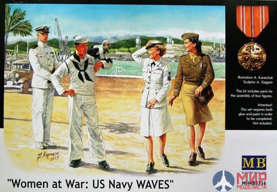 MB3556 Master Box 1/35 Фигуры Women at war: US Navy waves