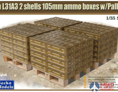 35GM0020 Gecko Models 1/35 British Ammo & Pallet Set