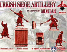 RB72070 Red Box 1/72 16th-17th Century Turkish Siege Mortar