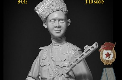 B-042 Altores Studio 1/10 Бюст Сын Полка Son of the regiment Resin kit