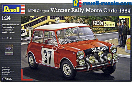 07064 Revell автомобиль  Mini Cooper Winner Rally Monte Carlo 1964  (1:24)