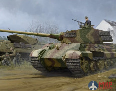 84531  Hobby Boss  танк  Pz.Kpfw.VI Sd.Kfz.182 Tiger II (Henschel 1944 Production) w/ Zimmerit  (1:3