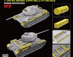 RM-2004 Rye Field Models 1/35 The Upgrade solution for T-34/85 Model 1944 No.174 Factory