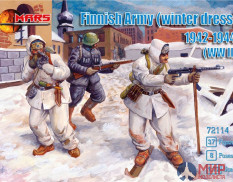 MR72114 MARS WWII Finnish Army Winter Dress  1/72 Набор фигур