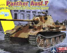 6917 Dragon танк Sd.Kfz.171 Panther Ausf.F w/Night Sights and Air Defense Armor 1/35
