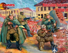 MR72115 MARS WWII Russian Infantry Winter Dress 1/72 Набор фигур