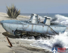 6916 Dragon танк IJN Type 2 (Ka-Mi) Amphibious Tank w/Floating Pontoon Early Production 1/35