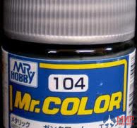 C104 Gunze Sangyo (Mr. Color) Paint urethane acrylic Mr. Color GUN CHROME 10ml