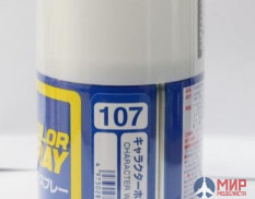 S107 Gunze Sangyo Paint in aerosol cans MR.HOBBY 100ml WHITE CHARECTER