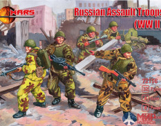 MR72116 MARS WWII Russian Assault Troops 1/72 Набор фигур