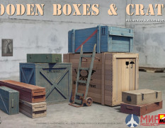 35581 MiniArt аксессуары WOODEN BOXES & CRATES (1:35)