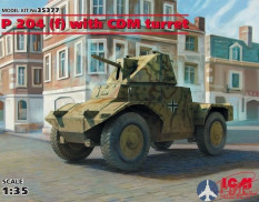 35377 ICM 1/35 Panzerspähwagen P 204 (f) with CDM turret, WWII German Armoured Vehicle