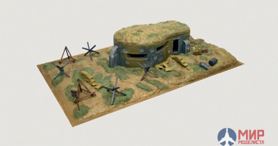 6070 Italeri 1/72 Бункер Bunker and accessories