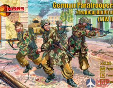 MR72119 MARS WWII German Paratroopers (Tropical Uniform) 1/72 Набор фигур