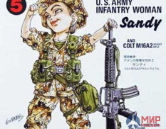 FT5 Fine Molds 1/12 Фигура Gulf War U.S. Infantry Woman & M16A2
