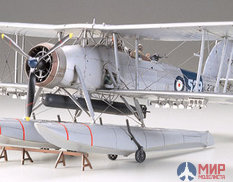 61071 Tamiya 1/48 Самолет FAIREY SWORDFISH FLOATPLANE с 3 фигурами.