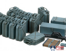 Tamiya 35315 1/35 German 20-liter canisters (12pcs), drawers (2pcs), Jack and other equipment (Early)