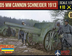 STR015  Strelets*R Фигуры Canon de 105 mle 1913 Schneider with French Crew
