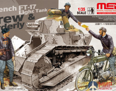 HS-005 Meng Models 1/35 Набор фигур FRENCH FT-17 LIGHT TANK CREW & ORDERLY