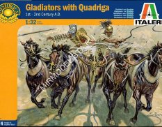 6874 Italeri солдаты GLADIATORS WITH QUADRIGA (1:32)