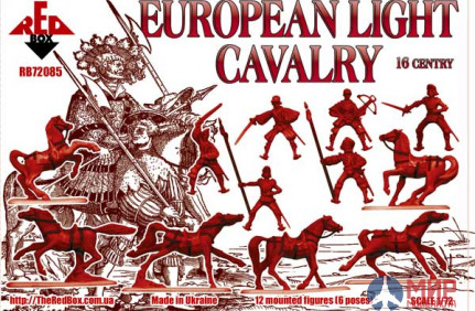 RB72085 Red Box 1/72 European Light Cavalry.  16 century. Set 2