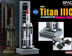 56341 Dragon космический аппарат  Titan IIIC w/Launch Pad Maiden Flight  1/400