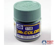 C118 Gunze Sangyo (Mr. Color) Paint urethane acrylic Mr. Color RLM78 LIGHT BLUE 10ml