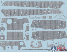 SPS-039 Meng Model 1/35 GERMAN HEAVY TANK Sd.Kfz.182 KING TIGER ZIMMERIT DECAL