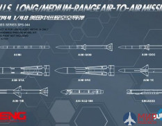 SPS-044 Meng Model 1/48 U.S. Long/Medium-Range Air-to-Air Missiles