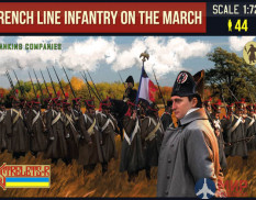 STR173 Фигуры Strelets*R French Line Infantry on the March 1 (Flanking Companies)